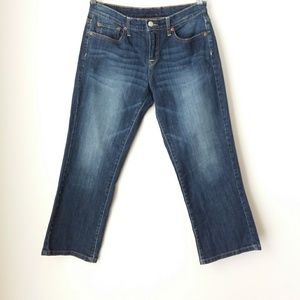 Lucky Brand | Blue Easy Rider Crop Jeans